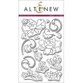 Набор штампов Altenew PEONY SCROLLS