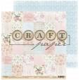 Набор бумаги для скрапбукинга CraftPaper ПИОНОВЫЙ САД 20х20см