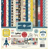 Набор бумаги для скрапбукинга Echo Park PINSTRIPES (мальчики) 30х30см