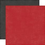 Лист бумаги для скрапбукинга Echo Park КРАСНЫЙ И ЧЕРНЫЙ коллекция Pinstripes 30х30см