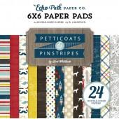 Набор бумаги для скрапбукинга Echo Park PINSTRIPES (мальчики) 15х15см