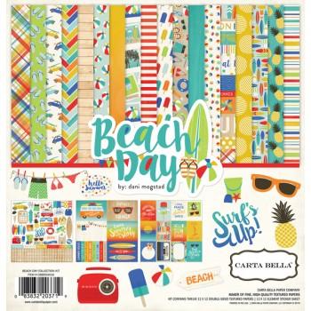 Набор бумаги для скрапбукинга Carta Bella BEACH DAY 30х30см