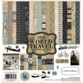 Набор бумаги для скрапбукинга Carta Bella OLD WORLD TRAVEL 30х30см