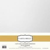 Лист блестящего кардстока Carta Bella WHITE SHIMMER 30х30см