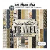 Набор бумаги для скрапбукинга Carta Bella TRANSATLANTIC TRAVEL 15х15см