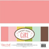 Набор однотонной бумаги для скрапбукинга Echo Park SWEET BABY GIRL 30х30см