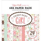 Набор бумаги для скрапбукинга Echo Park SWEET BABY GIRL 15х15см