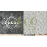 Лист бумаги для скрапбукинга EcoPaper НОВОЛУНИЕ коллекция Тайны Леса 30х30см