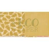 Лист бумаги для скрапбукинга EcoPaper ПАПОРОТНИК коллекция Тайны Леса 30х30см