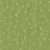 Ткань лоскутная THE TRAVELLER зеленая в цветочек 50х55см