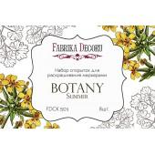 Набор открыток для раскрашивания маркерами Фабрика Декора BOTANY SUMMER