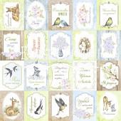 Лист бумаги для скрапбукинга Фабрика Декора SMILE OF SPRING 30х30см Карточки