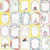 Лист бумаги для скрапбукинга Фабрика Декора BUNNY BIRTHDAY PARTY 30х30см теги