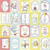 Лист бумаги для скрапбукинга Фабрика Декора BUNNY BIRTHDAY PARTY 30х30см карточки