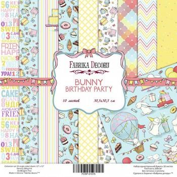 Набор бумаги для скрапбукинга Фабрика Декора BUNNY BIRTHDAY PARTY 30х30см