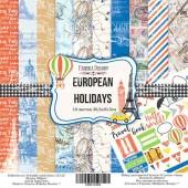 Набор бумаги для скрапбукинга Фабрика Декора EUROPEAN HOLIDAYS 30х30см