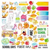 Лист бумаги для скрапбукинга Фабрика Декора COOL SCHOOL 30х30см картинки