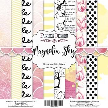 Набор бумаги для скрапбукинга Фабрика Декора MAGNOLIA SKY 20х20см
