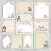 Лист бумаги для скрапбукинга Фабрика Декора BABY SHABBY Карточки набор 2