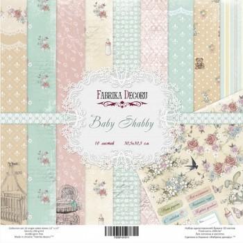 Набор бумаги для скрапбукинга Фабрика Декора BABY SHABBY 30х30см