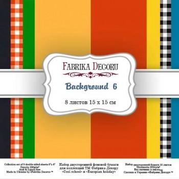 Набор бумаги для скрапбукинга Фабрика Декора BACKGROUNDS 6 15х15см