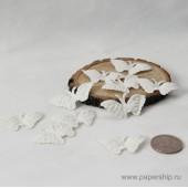 Бабочки бумажные мальбери БАБОЧКИ БЕЛЫЕ 6х4см
