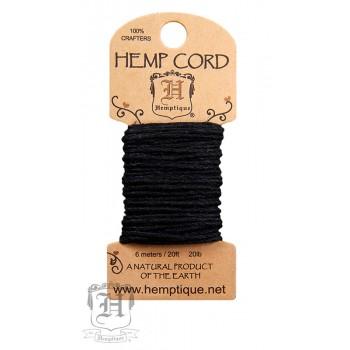 Шнур из пеньки Hemptique HEMP CORD черный
