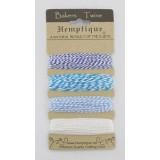 Набор шнуров из хлопка Hemptique BAKERS TWINE оттенки голубого