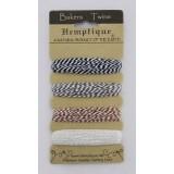 Набор шнуров из хлопка Hemptique BAKERS TWINE цвета каппучино