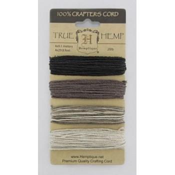 Набор шнуров из пеньки Hemptique TRUE HEMP коричневые