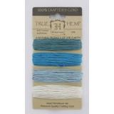 Набор шнуров из пеньки Hemptique TRUE HEMP синие