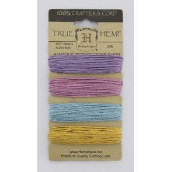 Набор шнуров из пеньки Hemptique TRUE HEMP сиреневые
