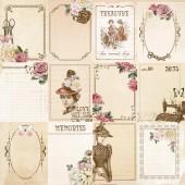 Лист бумаги для скрапбукинга Kaisercraft LADY-LIKE коллекция Mademoiselle 30х30см