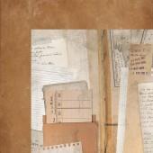 Лист бумаги для скрапбукинга Kaisercraft LIBRARY EPHEMERA коллекция Documented 30х30см