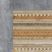 Лист бумаги для скрапбукинга Kaisercraft MEASUREMENT коллекция Documented 30х30см