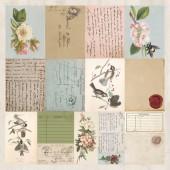 Лист перфорированной бумаги для скрапбукинга Kaisercraft LETTERS коллекция Cherry Tree Lane 30х30см