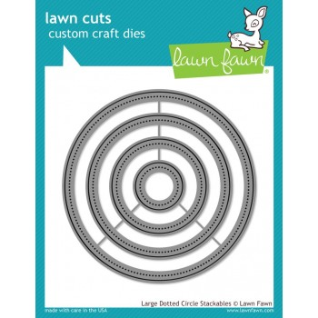 Набор ножей для вырубки Lawn Fawn LARGE DOTTED CIRCLE STACKABLES