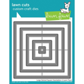 Набор ножей для вырубки Lawn Fawn LARGE DOTTED SQUARE STACKABLES