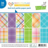 Набор бумаги для скрапбукинга Lawn Fawn PERFECTLY PLAID RAINBOW 15х15см