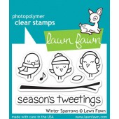 Набор штампов Lawn Fawn WINTER SPARROWS