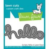 Нож для вырубки Lawn Fawn SCRIPTY HELLO