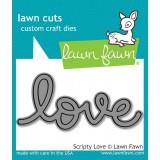 Нож для вырубки Lawn Fawn SCRIPTY LOVE