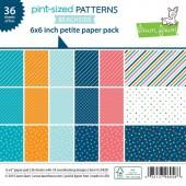 Набор бумаги для скрапбукинга Lawn Fawn PINT-SIZED PATTERNS IN BEACHSIDE 15х15см