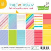 Набор бумаги для скрапбукинга Lawn Fawn REALLY RAINBOW 15х15см