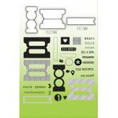 Набор штампов и ножей для вырубки MiMiCut NOTA BENE