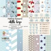 Набор бумаги для скрапбукинга MoNa design LITTLE BOY 30x30см