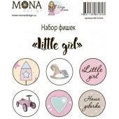 Фишки для украшения MoNa design LITTLE GIRL