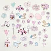 Набор высечек для украшения MoNa design LITTLE GIRL