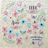 Набор высечек для украшения MoNa design LOVE IS IN THE AIR