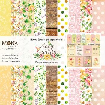 Набор бумаги для скрапбукинга MoNa design MAGIC GARDEN 30x30см
